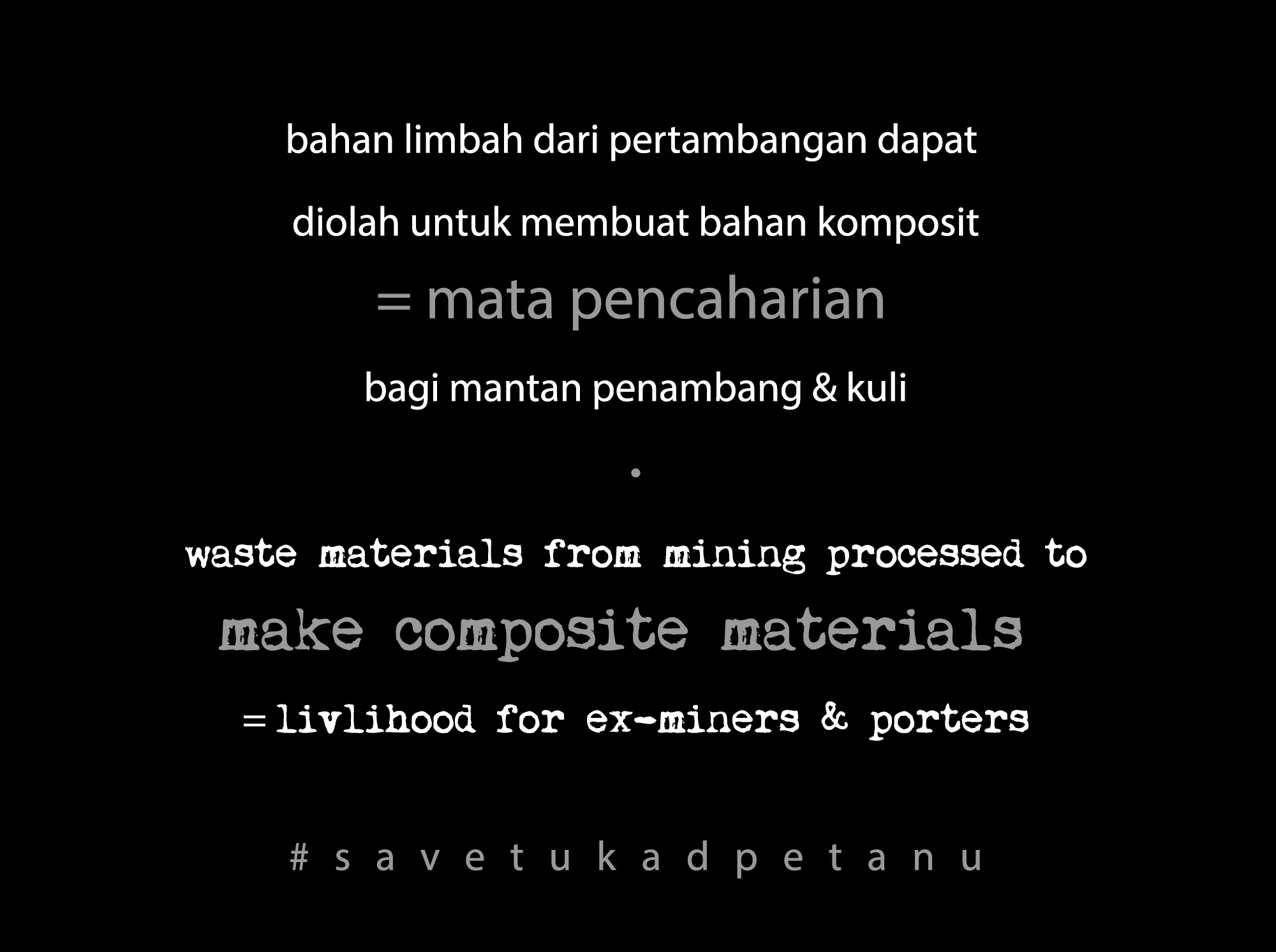process waste #savetukadpetanu