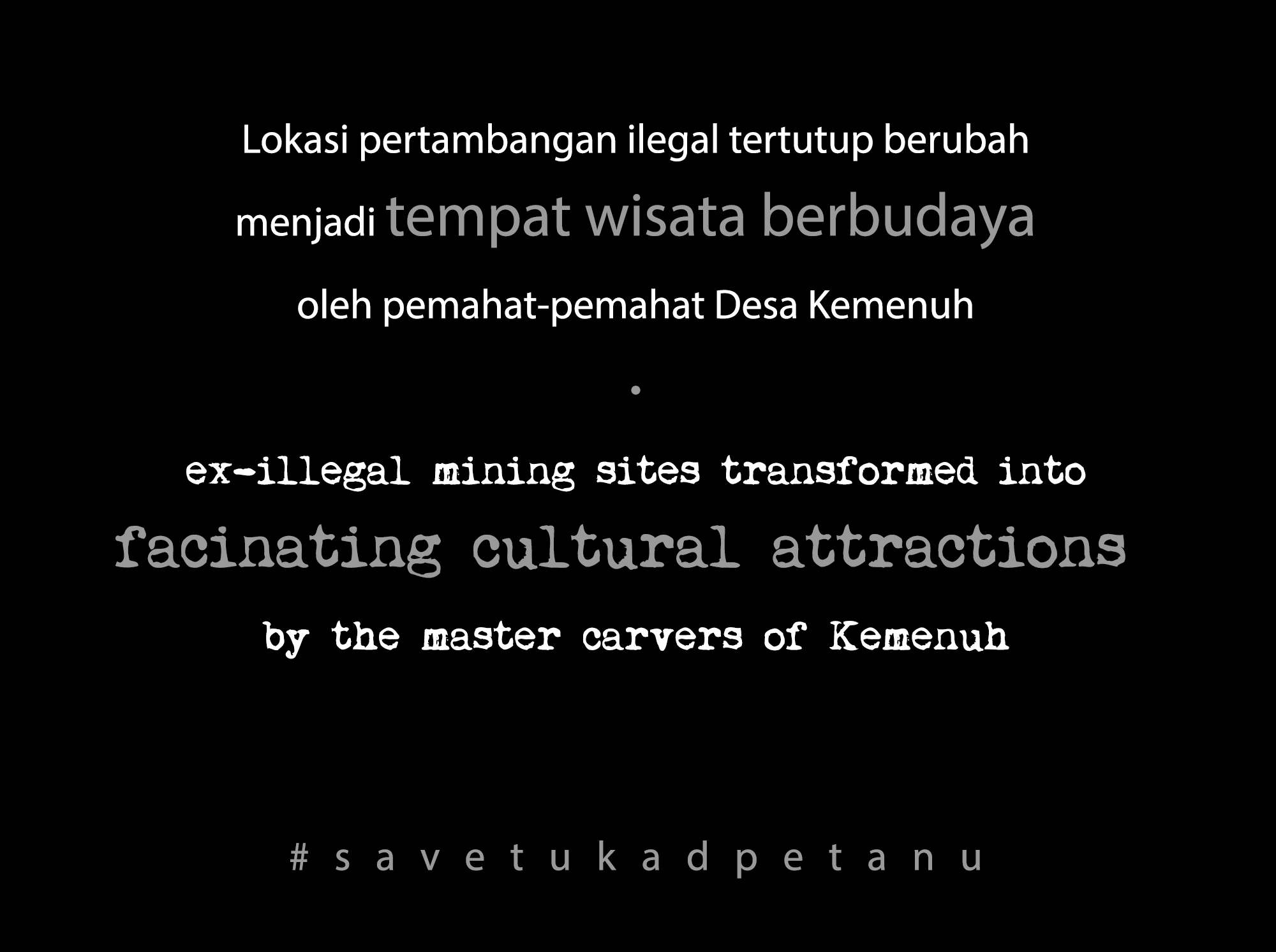 carving walls #savetukadpetanu