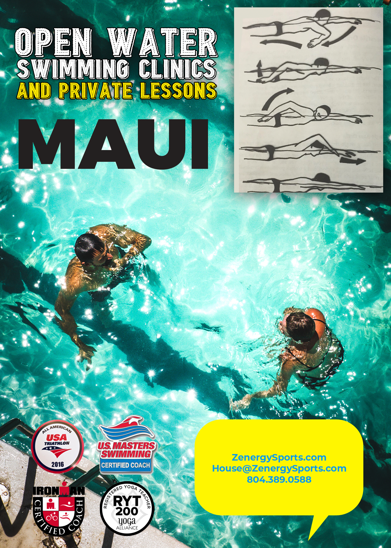Maui private swim lessons