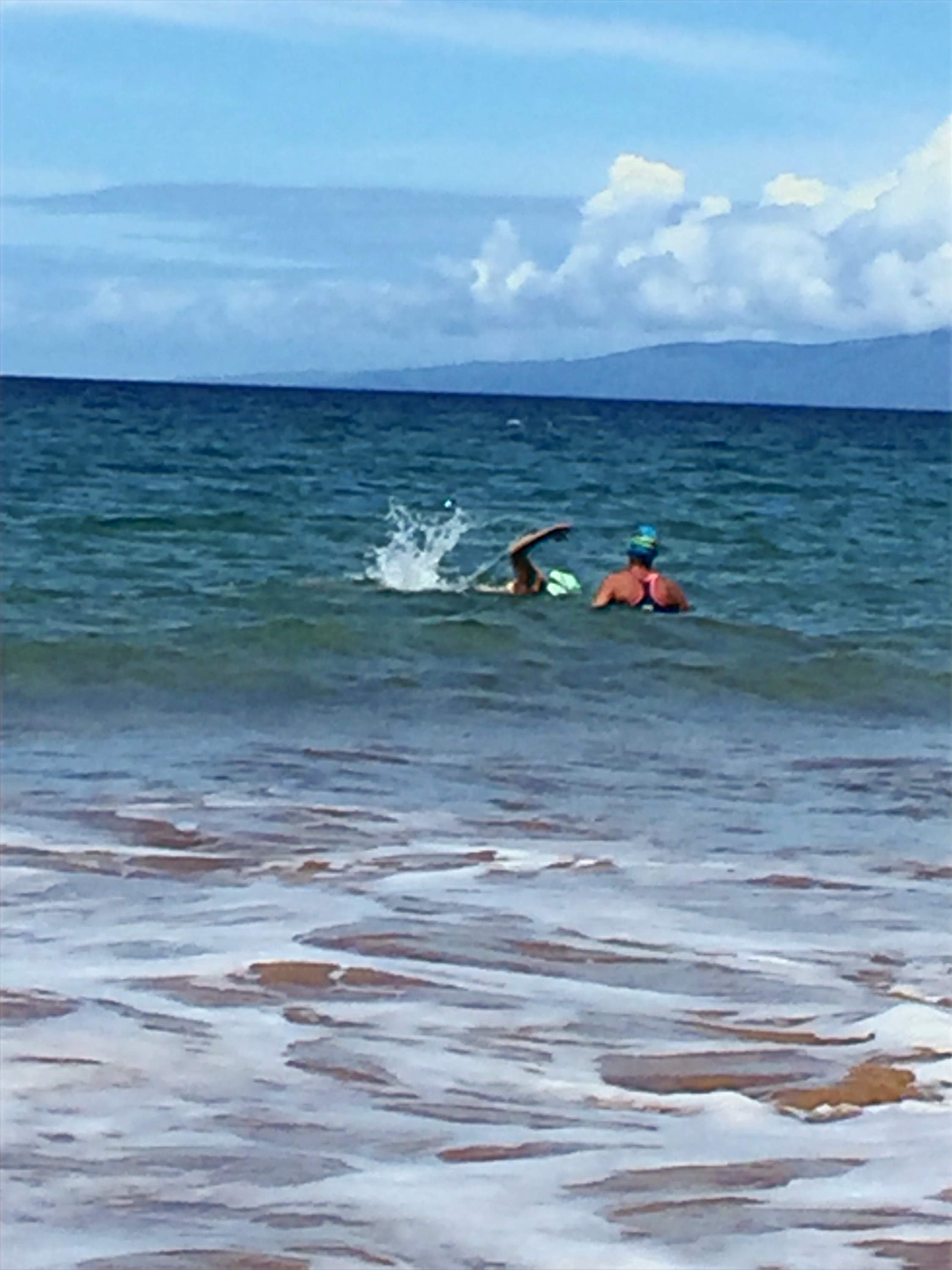 Ocean swimming on Maui