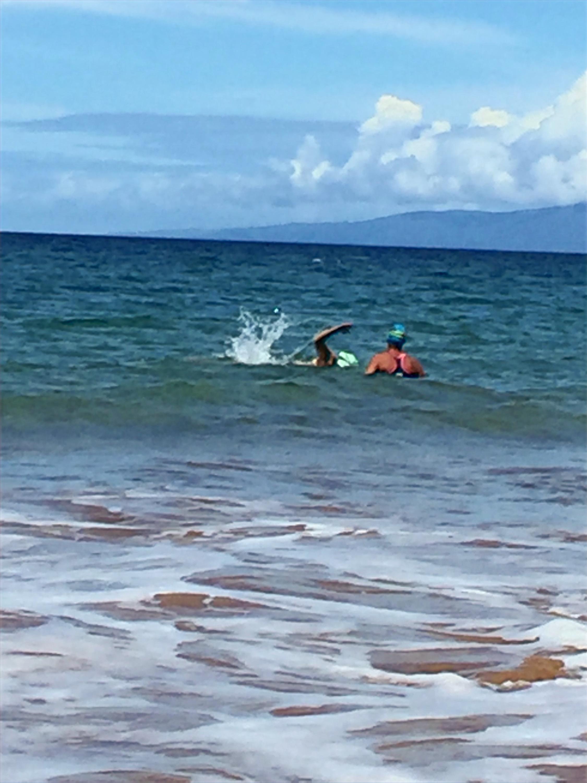 Ocean swimming on Maui