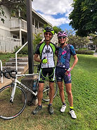Tom's first road ride training for Hawai