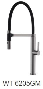 NIKO kitchen mixer- Chrome/Black/Gun metal
