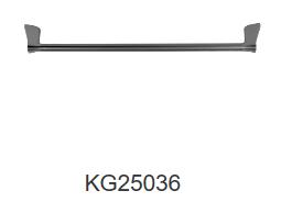 NIXON II 600mm single towel rail-Chrome/Black/Gun metal