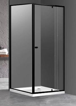 Matte Black Framed pivot door screen - Full size range