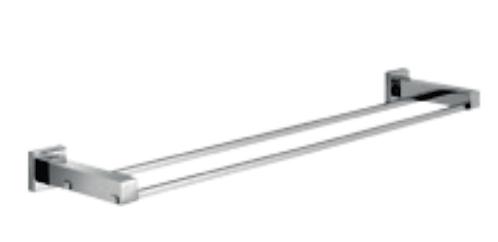 Qubi double towel rail 900mm