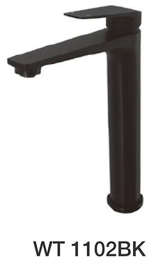 NOIR tower basin mixer-Chrome/Black/Gun metal finish