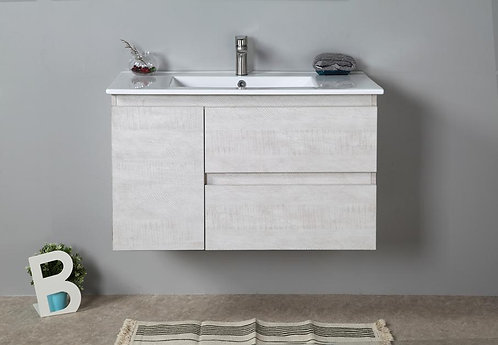 900mm ELISA timber vanity - ceramic/stone with under or above counter basin