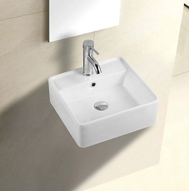 Coco wall hung square basin with bracket