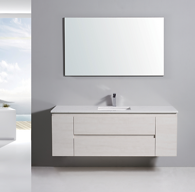 1500mm ELISA timber vanity - ceramic/stone with under or above counter basin