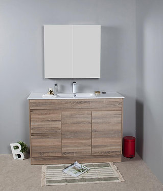 1200mm GRACE timber vanity - ceramic/stone with under or above counter basin