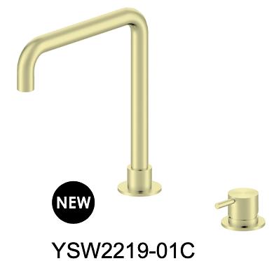 MECCA basin mixer-Chrome/BK/Brushed nickel/Gun metal grey/Brushed gold