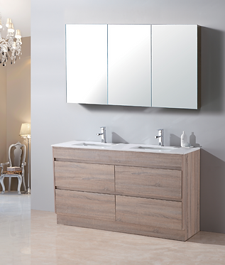 1500mm LEO timber vanity - ceramic/stone with under or above counter basin