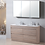 Thumbnail: 1500mm LEO timber vanity - ceramic/stone with under or above counter basin