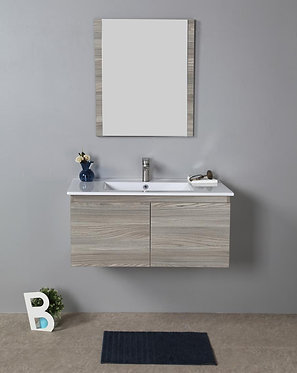 900mm FRANCO timber vanity - ceramic/stone with under or above counter basin