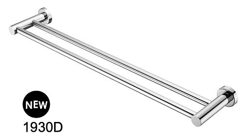 MECCA 800mm double towel rail-Chrome/BK/Brushed nickel/Gun metal grey/Brushed go