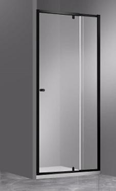 Wall to Wall semi-frame pivot door (adjustable) (700-1200)mm Matte black hardwar