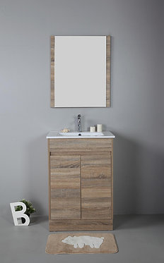 600mm GRACE timber vanity - ceramic/stone with under or above counter basin