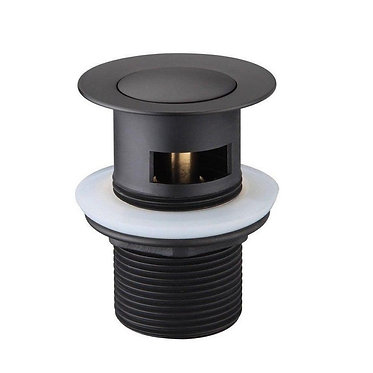Curo 32mm pop up waste with overflow (Black)