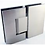 Thumbnail: Frameless hinged door - Black/Brushed nickel/Brushed gold