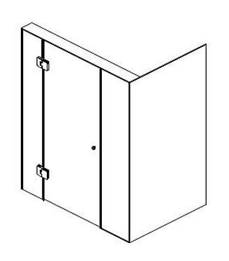 Frameless (B) hinged door - Matte black/Brushed nickel/Brushed gold