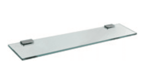 Acqua clear glass shelf 450mm