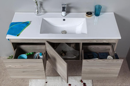 1200mm FRANCO timber vanity - ceramic/stone with under or above counter basin