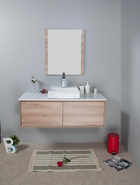 1200mm MIA timber vanity - ceramic/stone with under or above counter basin