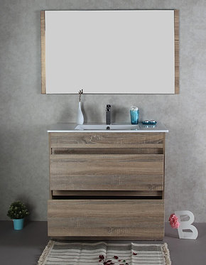 900mm LEO timber vanity - ceramic/stone with under or above counter basin