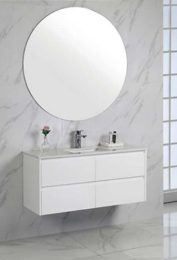 LEONA wall hung 1800mm vanity with Stone & undermount basin or above counter bas