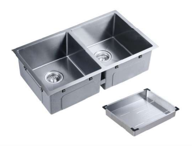 [NANO COATING] - PALERMO stainless steel sink - 850mm (two bowls)