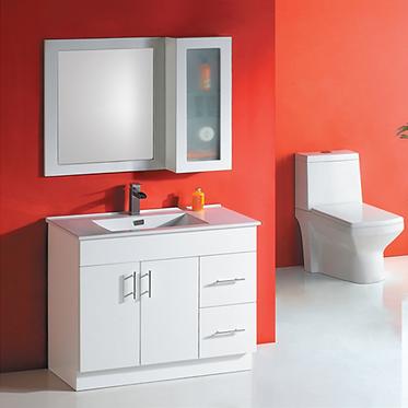 900mm Freestanding vanity, ceramic top