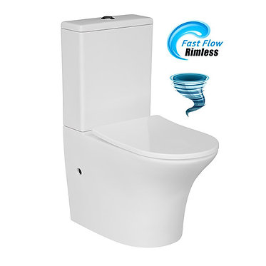[NEW] Rimless Tornado Flushing Wall Facing Toilet Suite