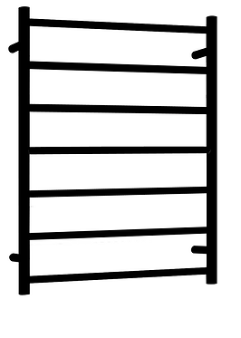Non-heated stainless steel towel ladder round bar