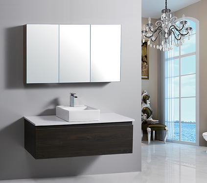1200mm ANDRA timber vanity - ceramic/stone with under or above counter basin