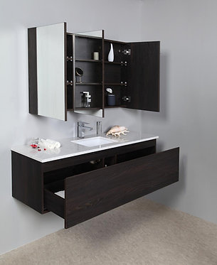 1500mm ANDRA timber vanity - ceramic/stone with under or above counter basin