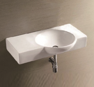 Chloe wall hung basin without tap hole