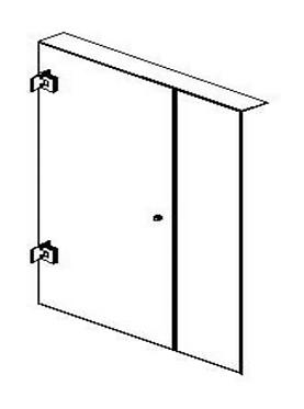 Frameless (A) hinged door - Matte/Brushed nickel/Brushed gold