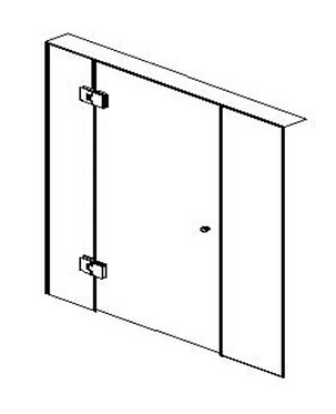 Frameless (B) hinged door - Chrome