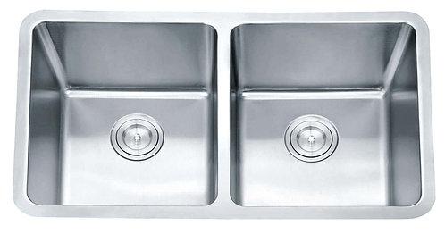Impact under counter sink radius corner c/w 2 basket waste
