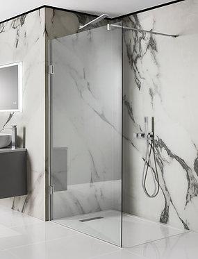Custom size frameless walk-in panel