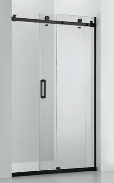 Frameless sliding door (adjustable) (1000-2000)mm - Matte Black