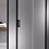 Thumbnail: Matte Black - Framed sliding door (adjustable) (900-1700)mm