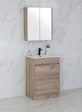 600mm MAX timber vanity - ceramic/stone with under or above counter basin