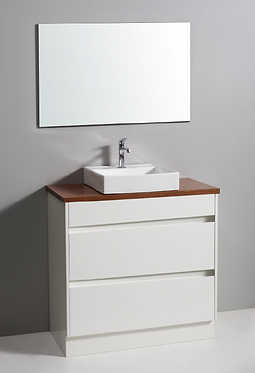 900mm LEONA vanity - ceramic/stone with under or above counter basin