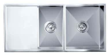 Impact counter top sink c/w 2 basket waste
