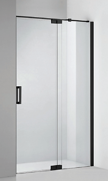 Frameless pivot door (800-2000) (adjustable) - Matte Black