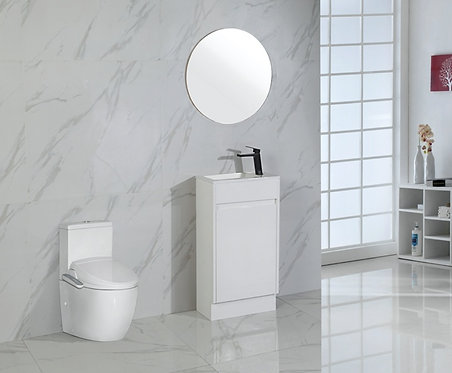 465mm BRANT wall hung vanity - ceramic top