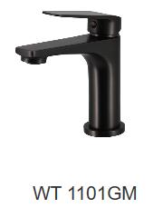 NIXON II basin mixer-Chrome/Black/Gun metal finish