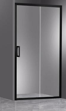 Matte Black - Wall to Wall Framed Sliding Door (adjustable) (1050-1700)mm